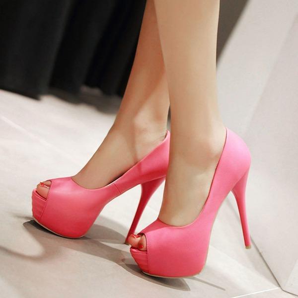 Vrouwen Kunstleer Stiletto Heel Pumps Plateau schoenen