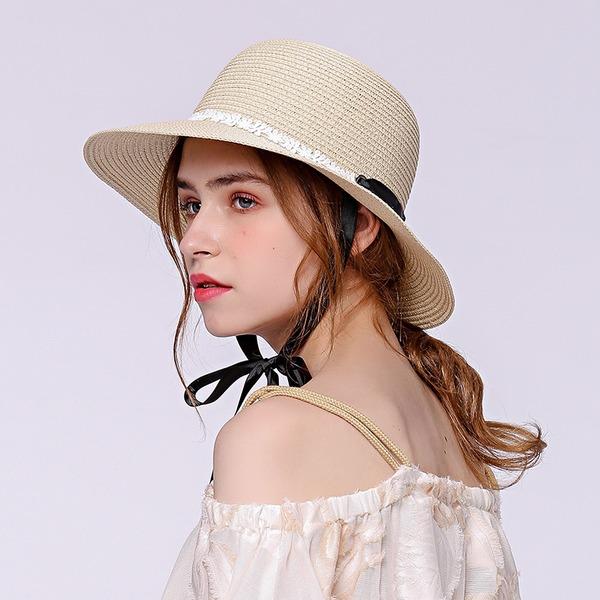 Señoras' Elegante Rafia paja Sombrero de paja