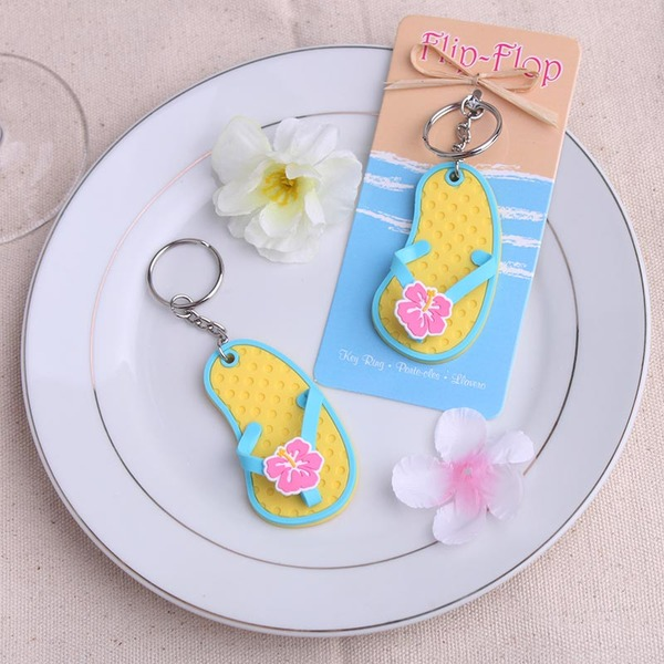 Mooie Flip-flop Ontwerp Plastische Sleutelhangers