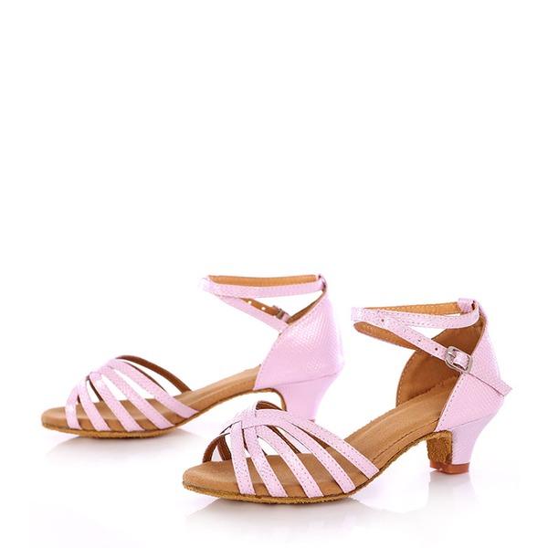 Детская обувь кожа На каблуках Сандалии Латино Обувь для танцев