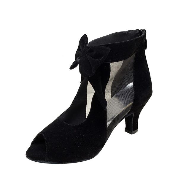 Dámské Semiš Latinské Taneční boty