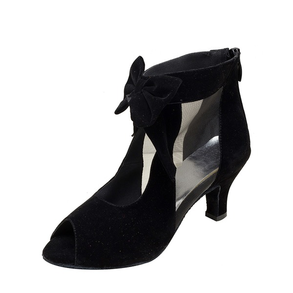 Женщины Замша Латино Обувь для танцев