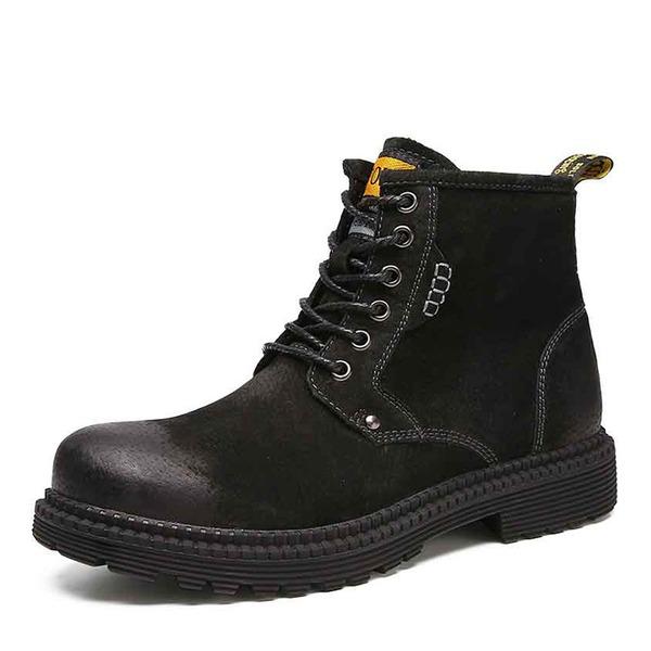 Мужская натуральня кожа Chukka вскользь Работа Men's Boots