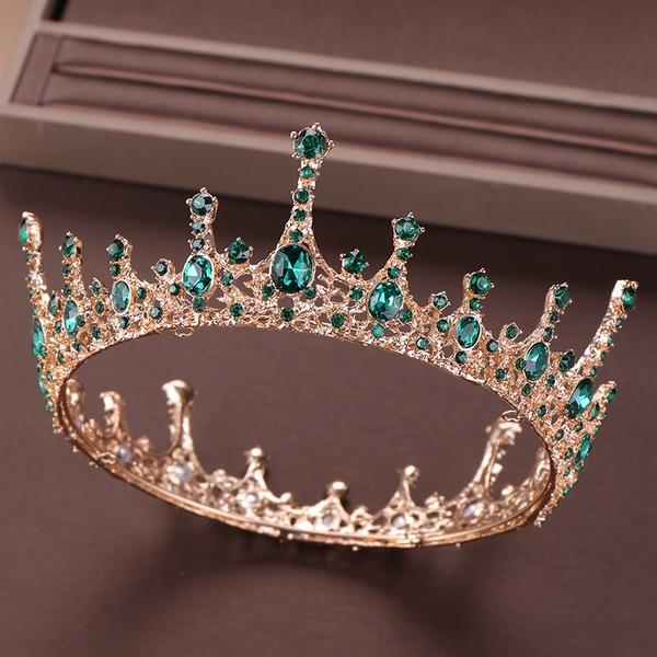 Señoras Elegante Rhinestone/Aleación/La perla de faux Tiaras con Rhinestone/Perla Veneciano (Se venden en una sola pieza)