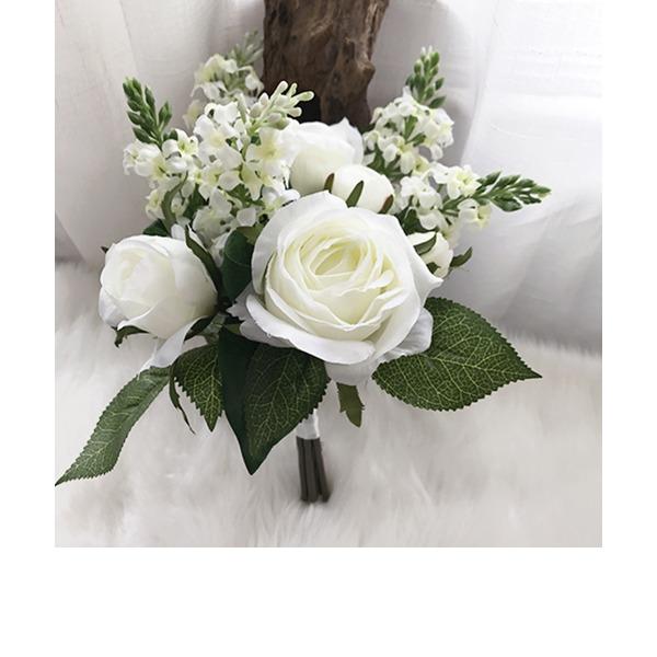 Blühende Freigeformt Seide/Stoff Brautjungfer Blumensträuße -