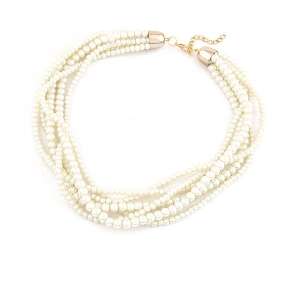 Nizza Nachahmungen von Perlen Frauen Mode-Halskette
