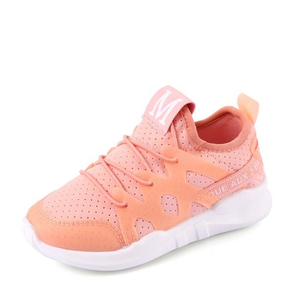 Jentas Round Toe Mesh flat Heel Flate sko Sneakers & Athletic med Blondér
