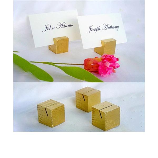 Einfache Aus Holz Platz-Kartenhalter (Satz 4)