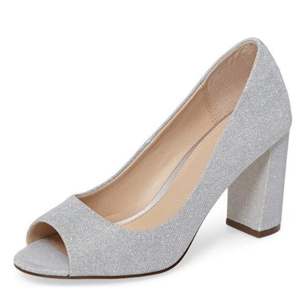Women's Leatherette Peep Toe Pumps With Others