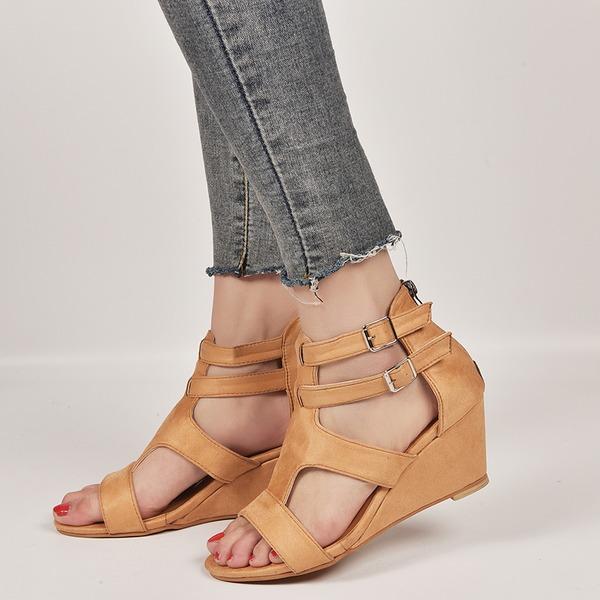 Naisten Mokkanahka Wedge heel kengät