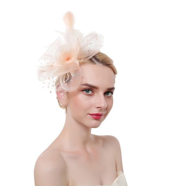 Damen Glamourös/Klassische Art/Elegant Feder/Net Garn mit Feder Kopfschmuck