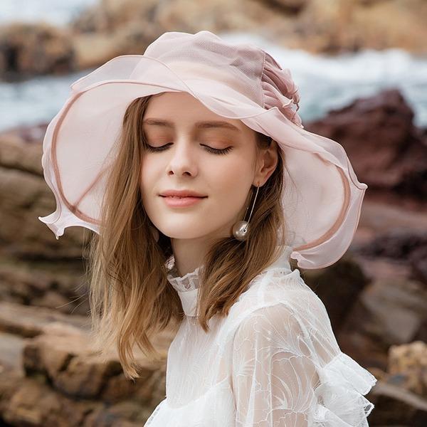 Ladies ' Glamourous/Klasický/Pěkný/Romantický Hedvábí Floppy klobouk