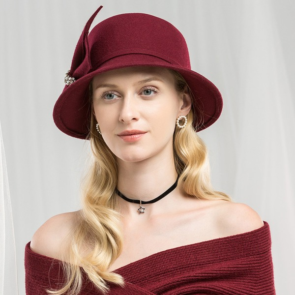 Ladies' Special/Glamourous/Simple/Exquisite/High Quality/Romantic/Vintage/Artistic Wool Floppy Hat