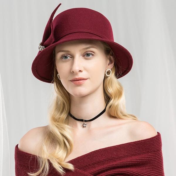 Damer' Särskilda/Glamorösa/Enkel/Utsökt/Hög Kvalitet/Romantiskt/tappning utformar/konstnärligt Ull Diskett Hat