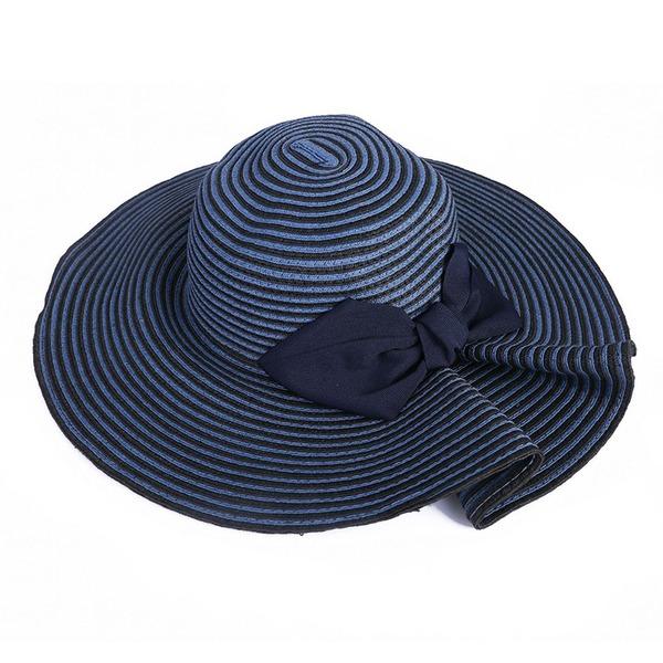 Bayanlar El yapımı/Hottest Polyester/Rattan Straw Ile İlmek Hasır Şapka/Plaj / Güneş Şapkaları/Kentucky Derby Şapkaları