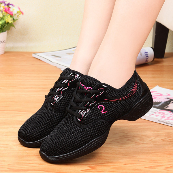 Women's Leatherette Cloth Sneakers Modern Jazz Sneakers Dance Shoes