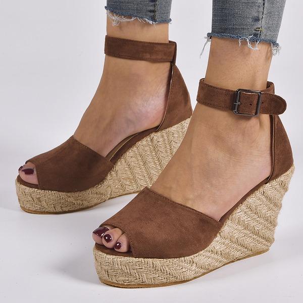 Naisten Mokkanahka Wedge heel Kiilat kengät