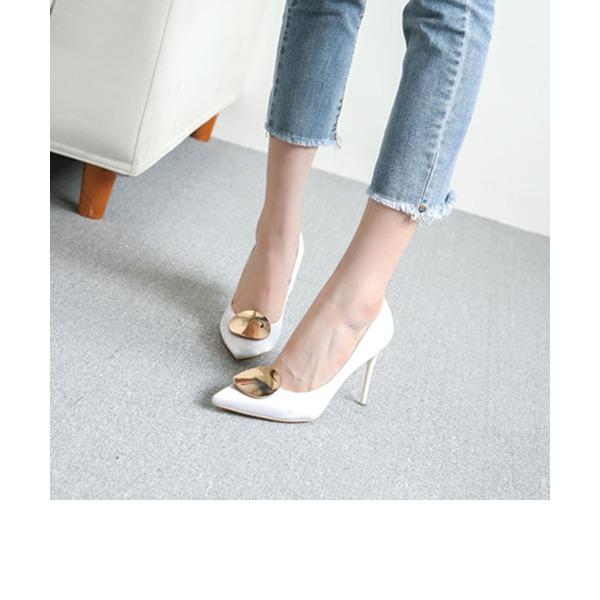 Femmes Satiné Talon stiletto Escarpins Bout fermé avec Autres chaussures