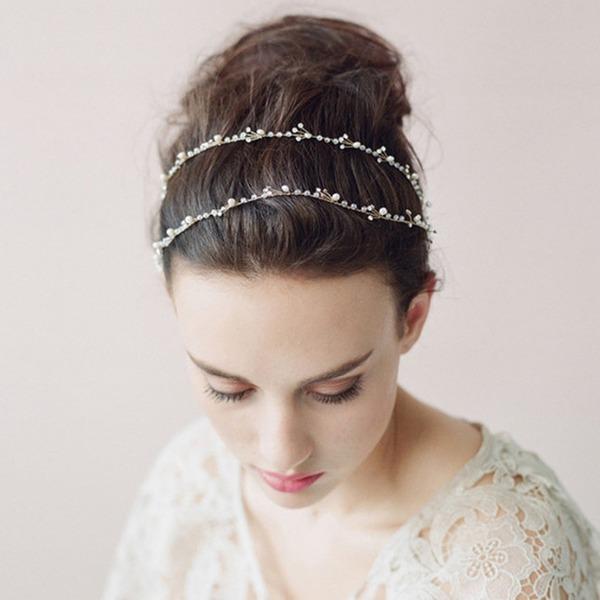 Damen Exquisiten Legierung Stirnbänder mit Venezianischen Perle (In Einem Stück Verkauft)