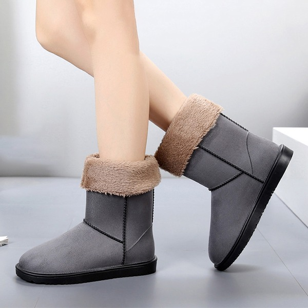 De mujer Ante Tacón plano Botas Botas longitud media Botas de lluvia con Otros zapatos