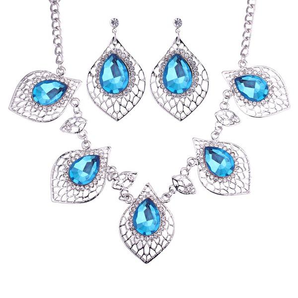 Fashional Alloy Glass Ladies' Jewelry Sets