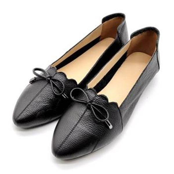 Vrouwen Echt leer Flats أحذية