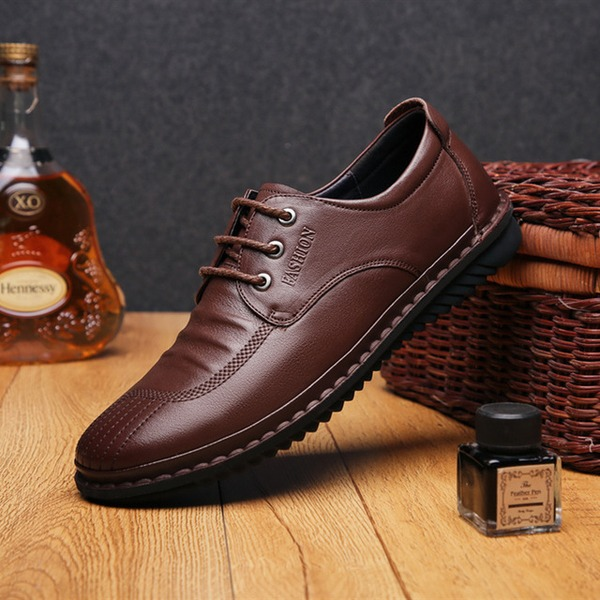 Men's Real Leather Lace-up Casual Men's Oxfords