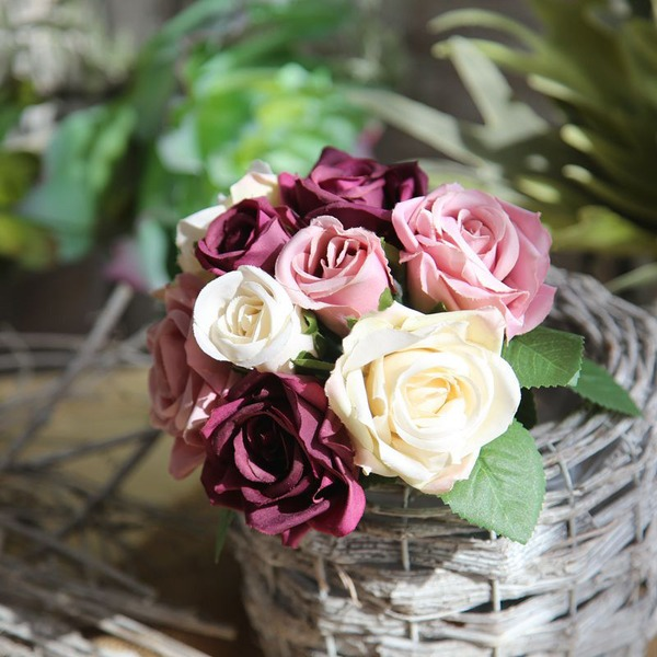 Elegant Silk Flower Home Décor