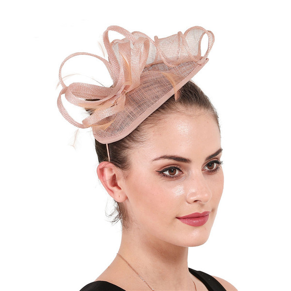 Dames Simple/Accrocheur Batiste avec Feather Chapeaux de type fascinator/Kentucky Derby Des Chapeaux