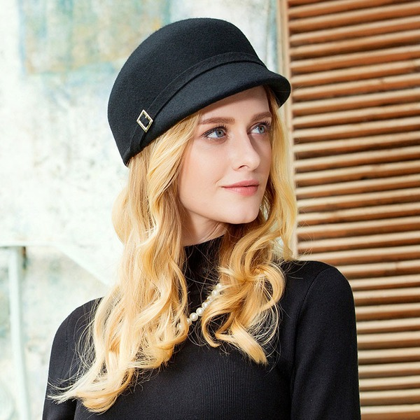 Ladies ' Smuk Uld Bowler / Cloche Hat