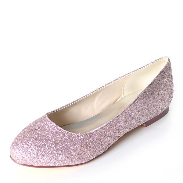 Kadın Köpüklü Glitter Düz Topuk Daireler