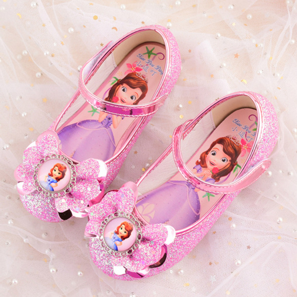Girl's Closed Toe Leatherette Flower Girl Shoes With Bowknot