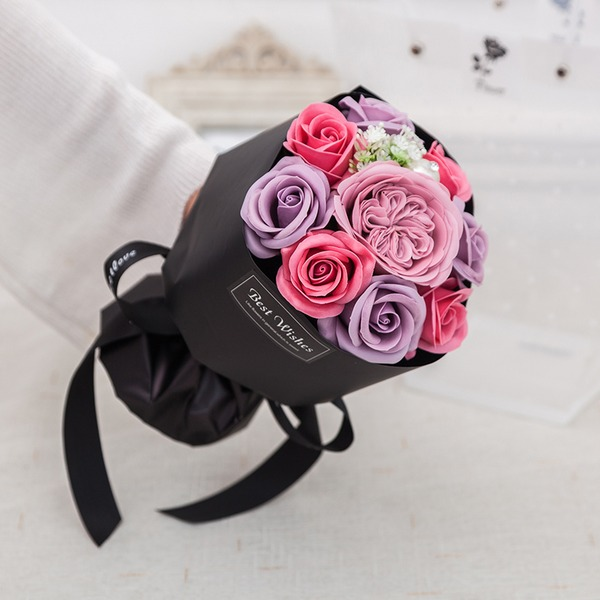 Free-Form Soap Flower Bridal Bouquets - Bridal Bouquets