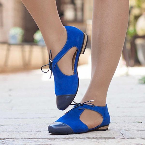 Kvinner Semsket Flat Hæl Sandaler Flate sko med Annet sko