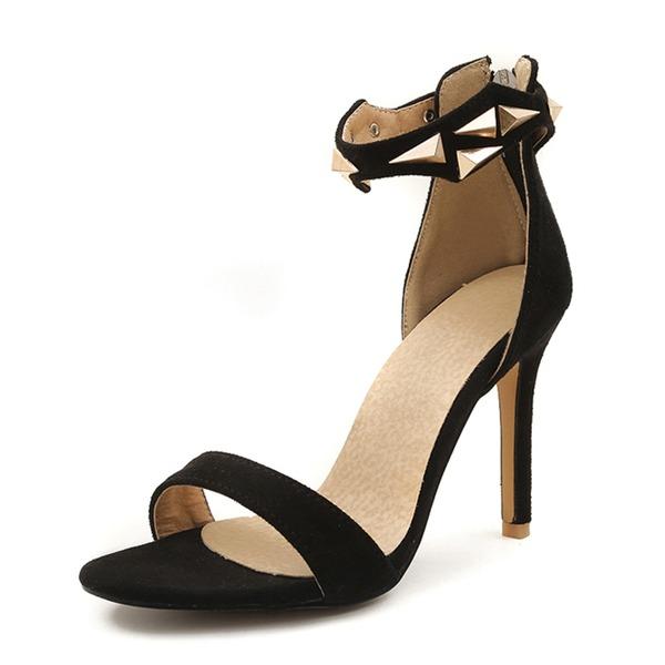 Mulheres Camurça Salto agulha Sandálias Bombas com Fivela sapatos