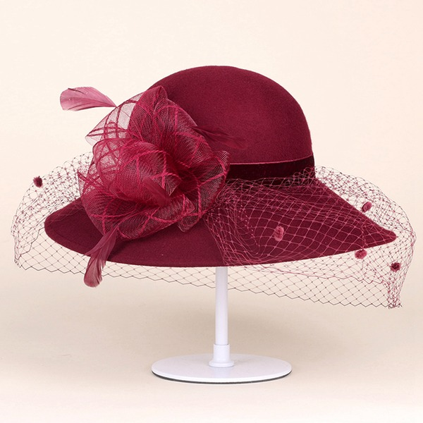 Damer' Gorgeous Ull Kastare / Cloche Hat/Tea Party Hattar