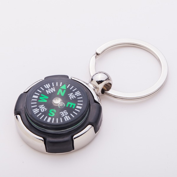Personalized Compass Zinc Alloy Keychains