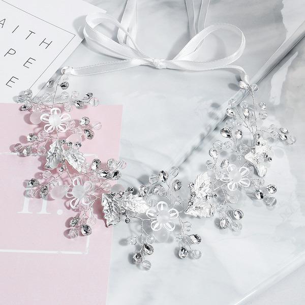 Dame Crystal/Rhinsten Pandebånd (Sælges i et enkelt stykke)