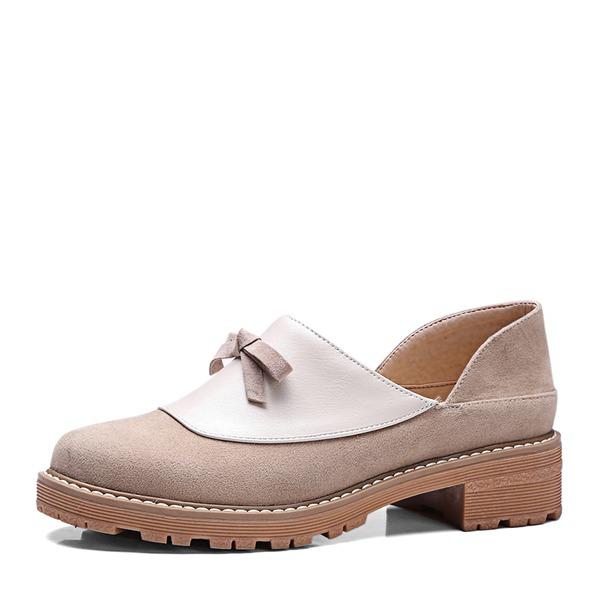 Kvinnor Mocka PVC Kilklack Kilar med Bandage skor