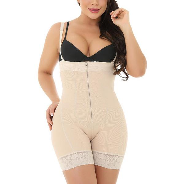 Kvinner Elegant/Charme Polyester/Spandex Kleur bodysuit Corrigerend Ondergoed