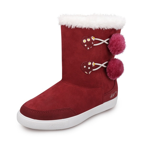 Girl's Suede Flat Heel Round Toe Closed Toe Snow Boots Boots With Zipper