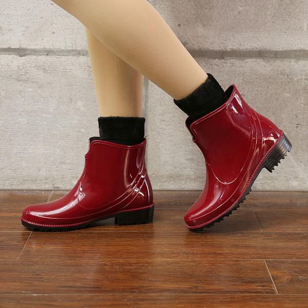 Vrouwen PVC Low Heel Laarzen Regenlaarzen met Anderen schoenen