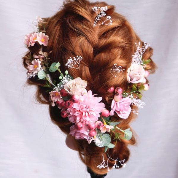 Señoras Especial Flores de seda Peines y pasador