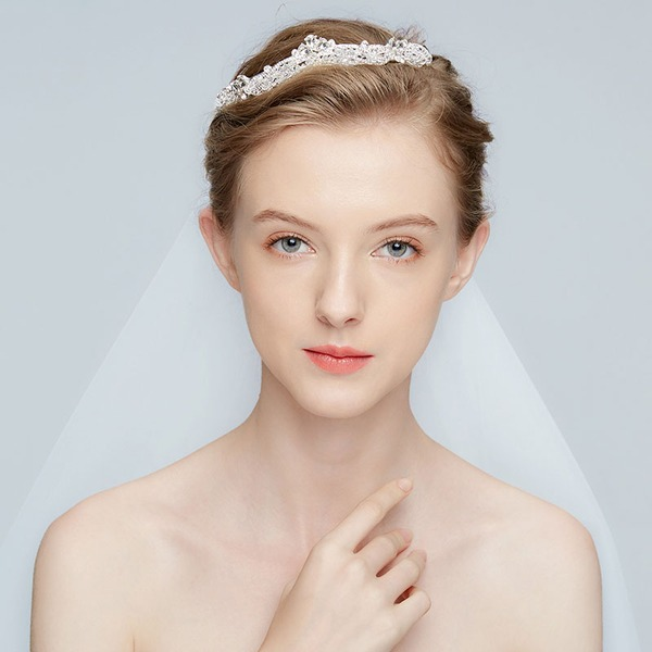 Classic Alloy Tiaras With Rhinestone/Crystal (Sold in single piece)