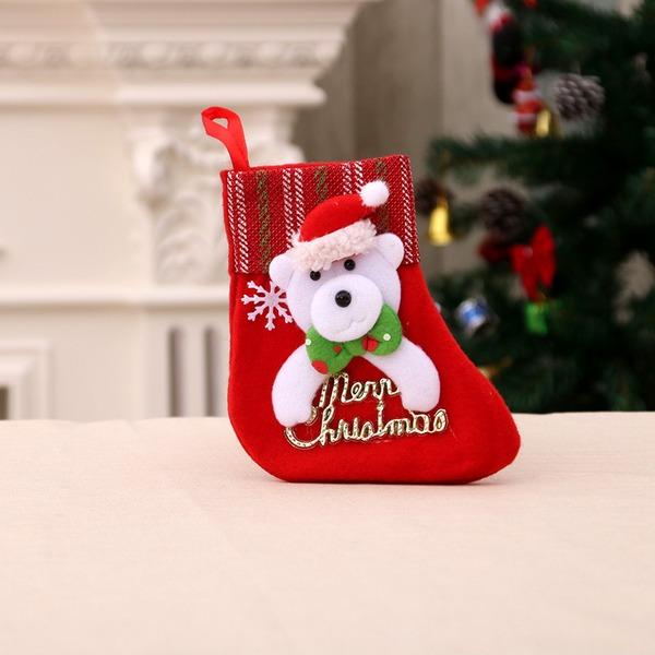 Flannelette Strømper Jule Stocking (Selges i ett stykke)