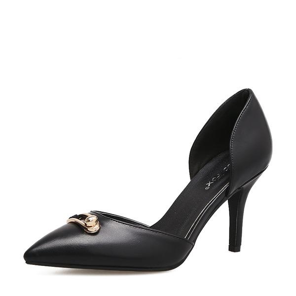 Femmes Similicuir Talon stiletto Escarpins Bout fermé chaussures