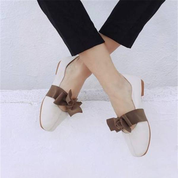 Vrouwen PU Flat Heel Flats Mary Jane أحذية