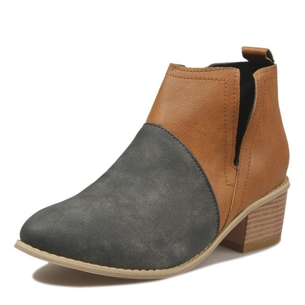 Mulheres PU Salto robusto Fechados sapatos