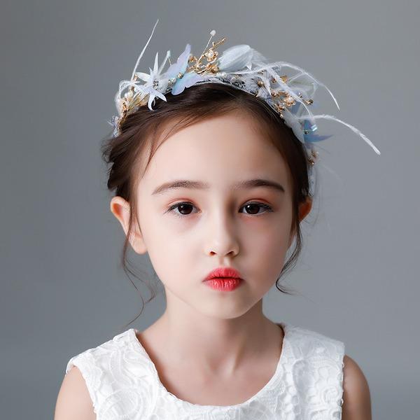 Crianças Bonito Strass/Liga/Falso pérola/Flor de seda Diademas com Strass/Pérola Veneziano (Vendido em uma única peça)