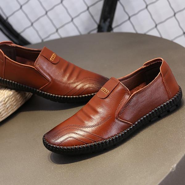 Män Äkta läder Fritids Loafers för män